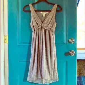 Silver Swiss Dot Dress